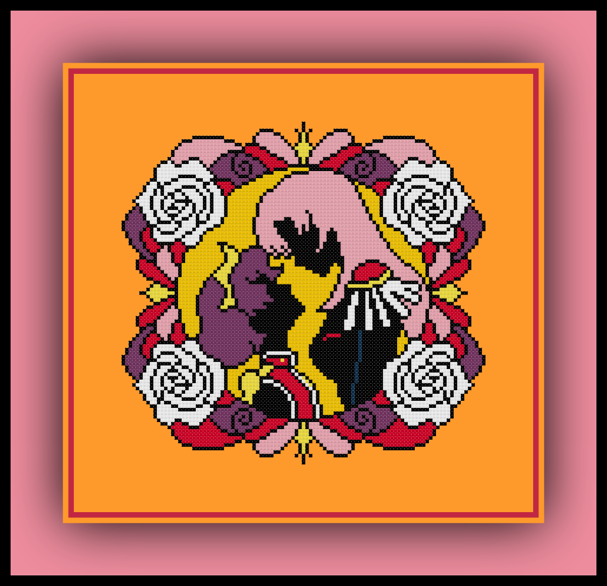 Free Revolutionary Girl Utena Cross Stitch Pattern Utena and Anthy Silhouette