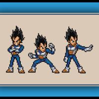 Free Vegeta Cross Stitch Pattern Dragon Ball Z
