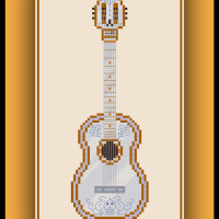 Free Disney's Coco Cross Stitch Pattern De La Cruz's Guitar