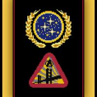 Free Star Trek Cross Stitch Patterns Starfleet Academy and United Federation of Planets Logos