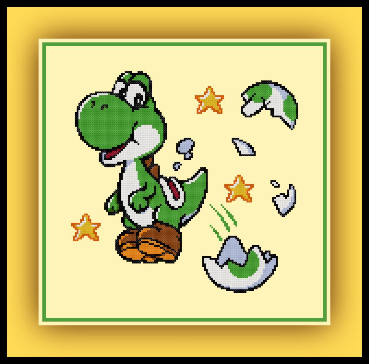 Free Yoshi Cross Stitch Pattern Mario