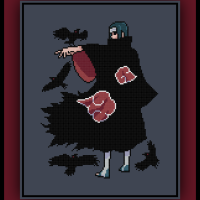 Patreon Only Itachi Uchiha Cross Stitch Pattern Naruto