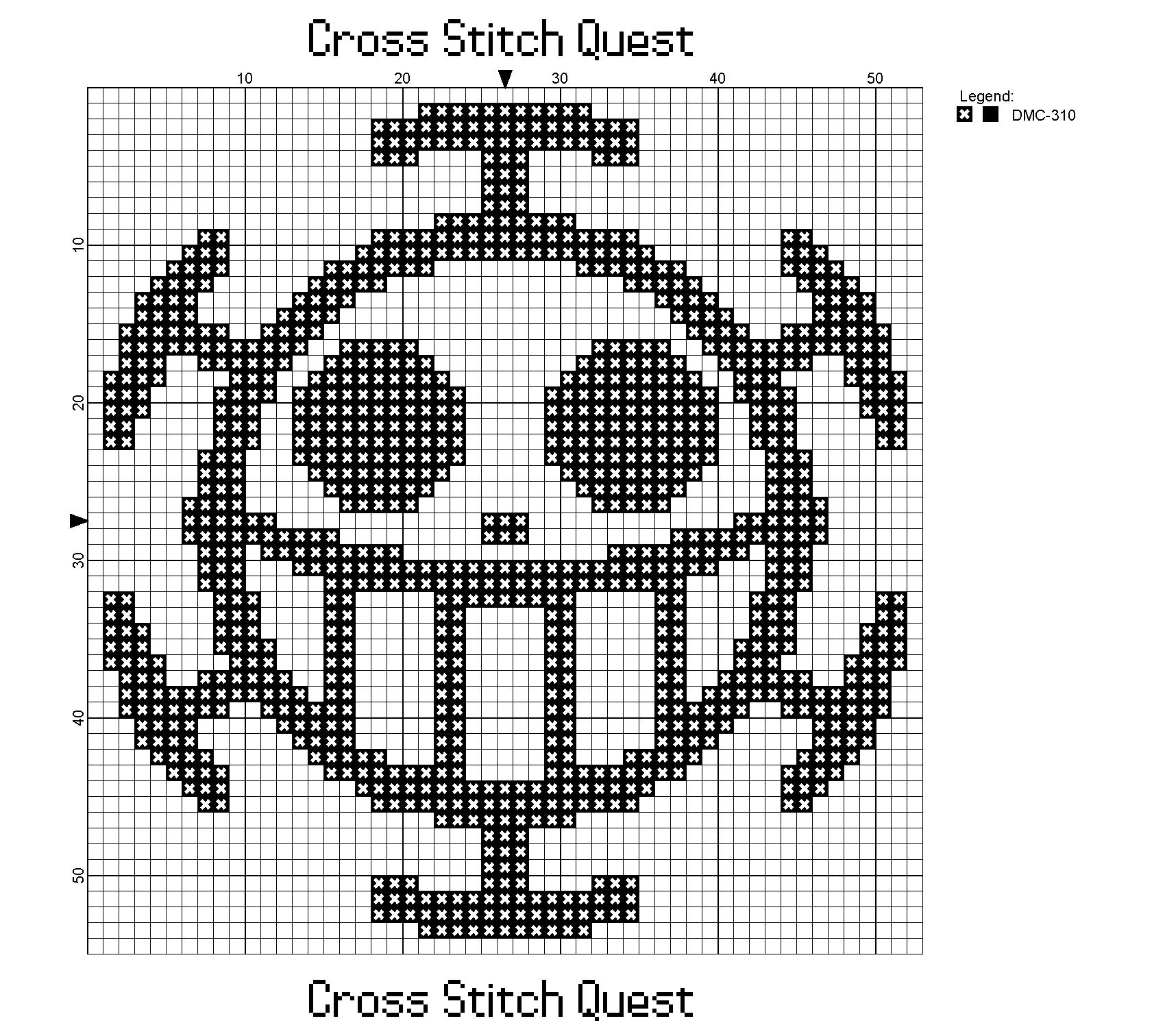 Free One Piece Cross Stitch Pattern Trafalgar Law Symbol Cross