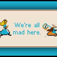 Free Alice in Wonderland Cross Stitch Pattern Quote