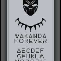 Patreon Only Black Panther Cross Stitch Pattern Wakanda Forever Alphabet