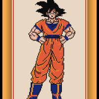 Free Goku Cross Stitch Pattern Dragon Ball Z