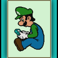 Free Luigi's Game Boy Cross Stitch Pattern Super Mario Bros.