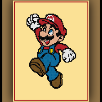 Free Mario Cross Stitch Pattern Super Mario Bros.