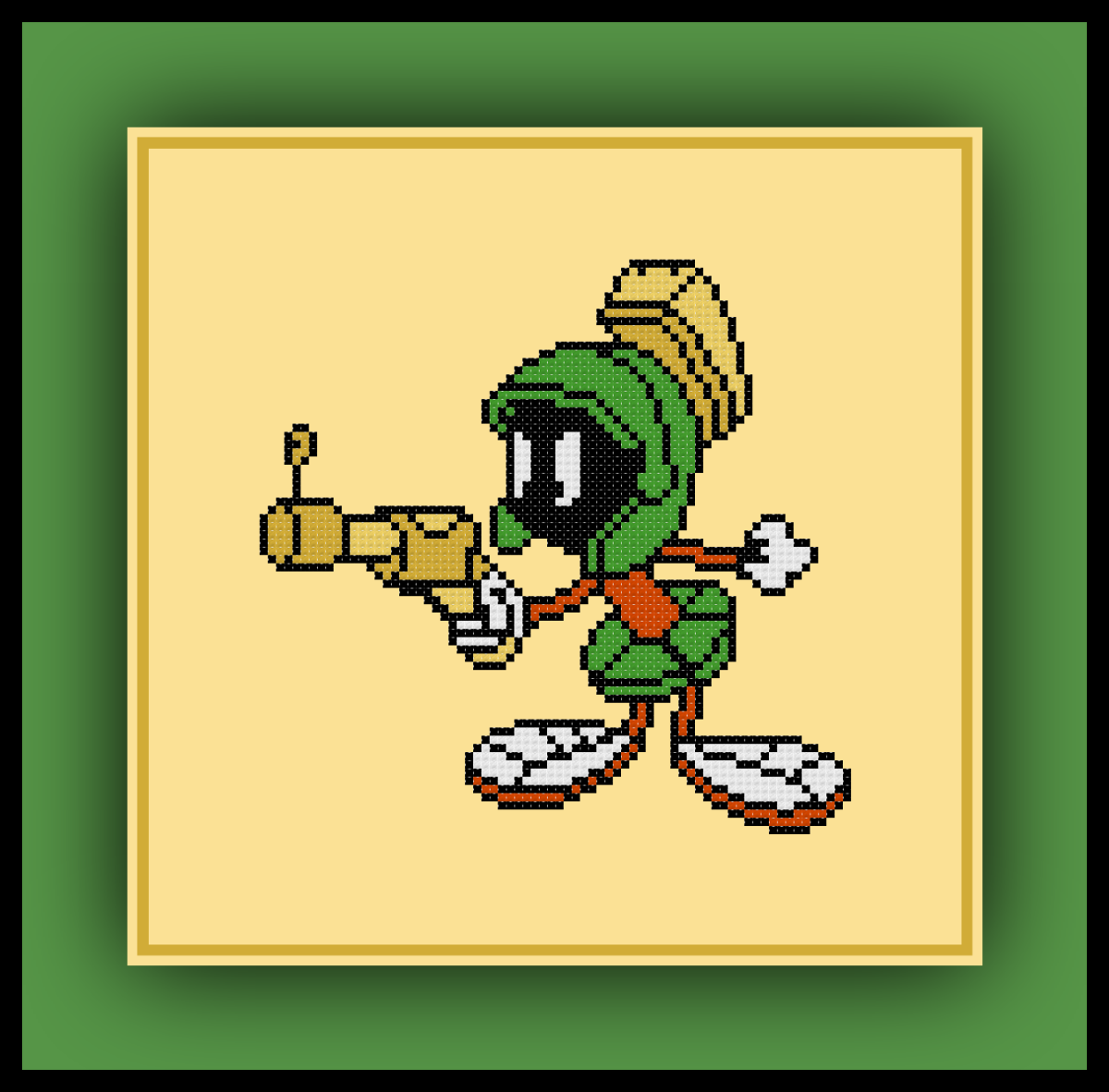 Marvin the Martian Cross Stitch Pattern Looney Tunes