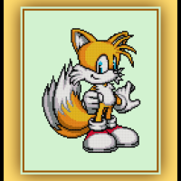 Free Tails Cross Stitch Pattern Sonic
