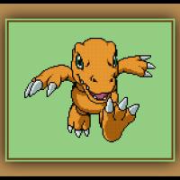 Free Agumon Cross Stitch Pattern Digimon