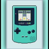 Free Game Boy Color Cross Stitch Pattern