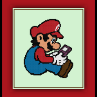 Free Mario Cross Stitch Pattern Game Boy Color