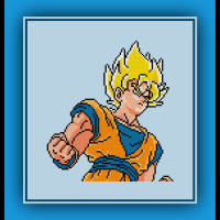 Free Super Saiyan Goku Cross Stitch Pattern Dragon Ball Z