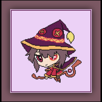 Patreon Only Megumin Cross Stitch Pattern KonoSuba