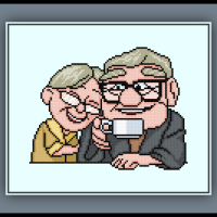 Patreon Only Ellie and Carl Fredricksen Cross Stitch Pattern Up