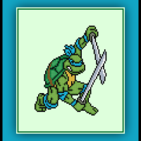 Patreon Only Leonardo Cross Stitch Pattern Teenaged Mutant Ninja Turtles