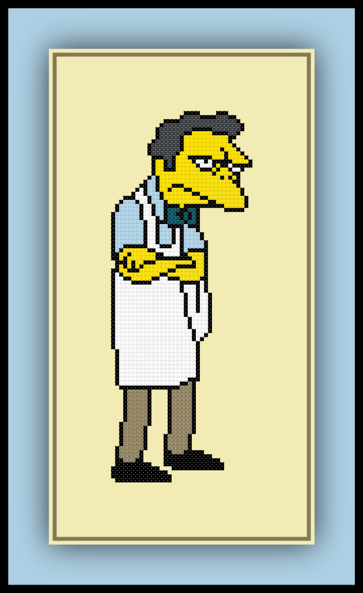Free Moe Cross Stitch Pattern The Simpsons