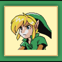 Free Link Cross Stitch Pattern Legend of Zelda