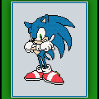 Free Classic Sonic Cross Stitch Pattern Sonic the Hedgehog
