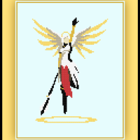 Patreon Only Mercy Cross Stitch Pattern Overwatch