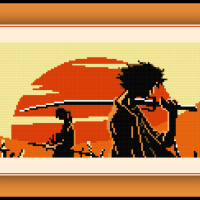 Patreon Only Samurai Champloo Cross Stitch Pattern Mugen and Jin