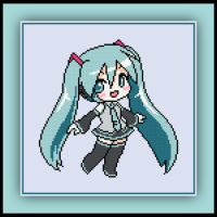 Patreon Only Hatsune Miku Cross Stitch Pattern Vocaloid