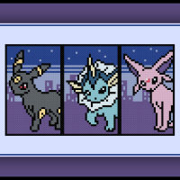 Free Eeveelutions Cross Stitch Pattern Pokemon Night