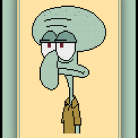 Free Squidward Cross Stitch Pattern SpongeBob SquarePants