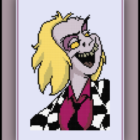 Free Beetlejuice Cross Stitch Pattern