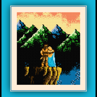 Free Castlevania 3 Cross Stitch Pattern Trevor and Sypha