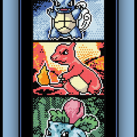 Free Kanto Middle Stages Cross Stitch Pattern Pokemon
