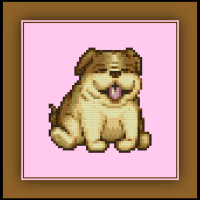 Free Bulldog Cross Stitch Pattern