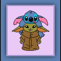 Patreon Only Stitch and Baby Yoda Cross Stitch Pattern
