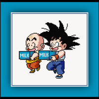 Patreon Only Goku and Krillin Cross Stitch Pattern Dragon Ball