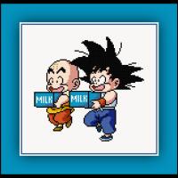 Patreon Only Goku and Krillin Cross Stitch Pattern Dragon Ball