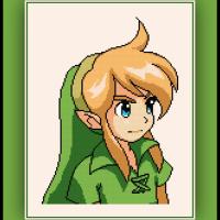 Free Link Cross Stitch Pattern Zelda