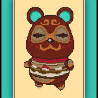 Free Clay Cross Stitch Pattern Animal Crossing Villager