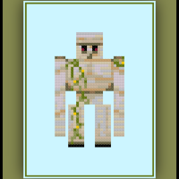 Free Minecraft Cross Stitch Pattern Iron Golem