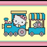 Free Hello Kitty Cross Stitch Pattern Train Ride