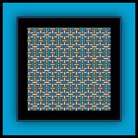 Free Beachy Bricks Cross Stitch Pattern