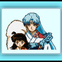 Free Inuyasha Cross Stitch Pattern Sesshomaru and Rin