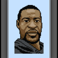 Free George Floyd Cross Stitch Pattern BLM