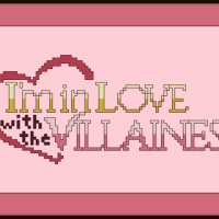 I'm in Love with the Villainess Cross Stitch Pattern Logo
