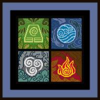 Free Avatar the Last Airbender Cross Stitch Pattern Elemental Symbols by Jentredicho