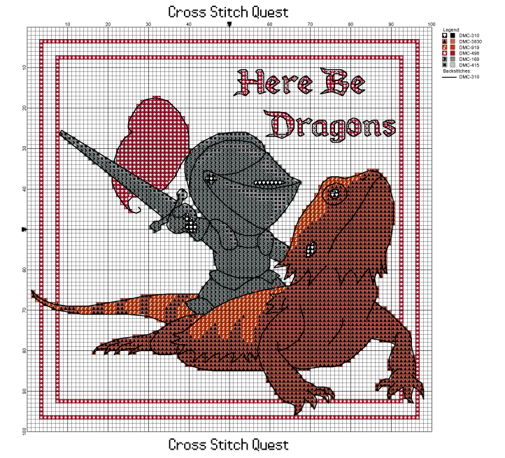 Here Be Dragons Pattern_Page_1