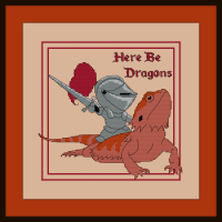 Free Here Be Dragons Cross Stitch Pattern Wisteria Art Studio