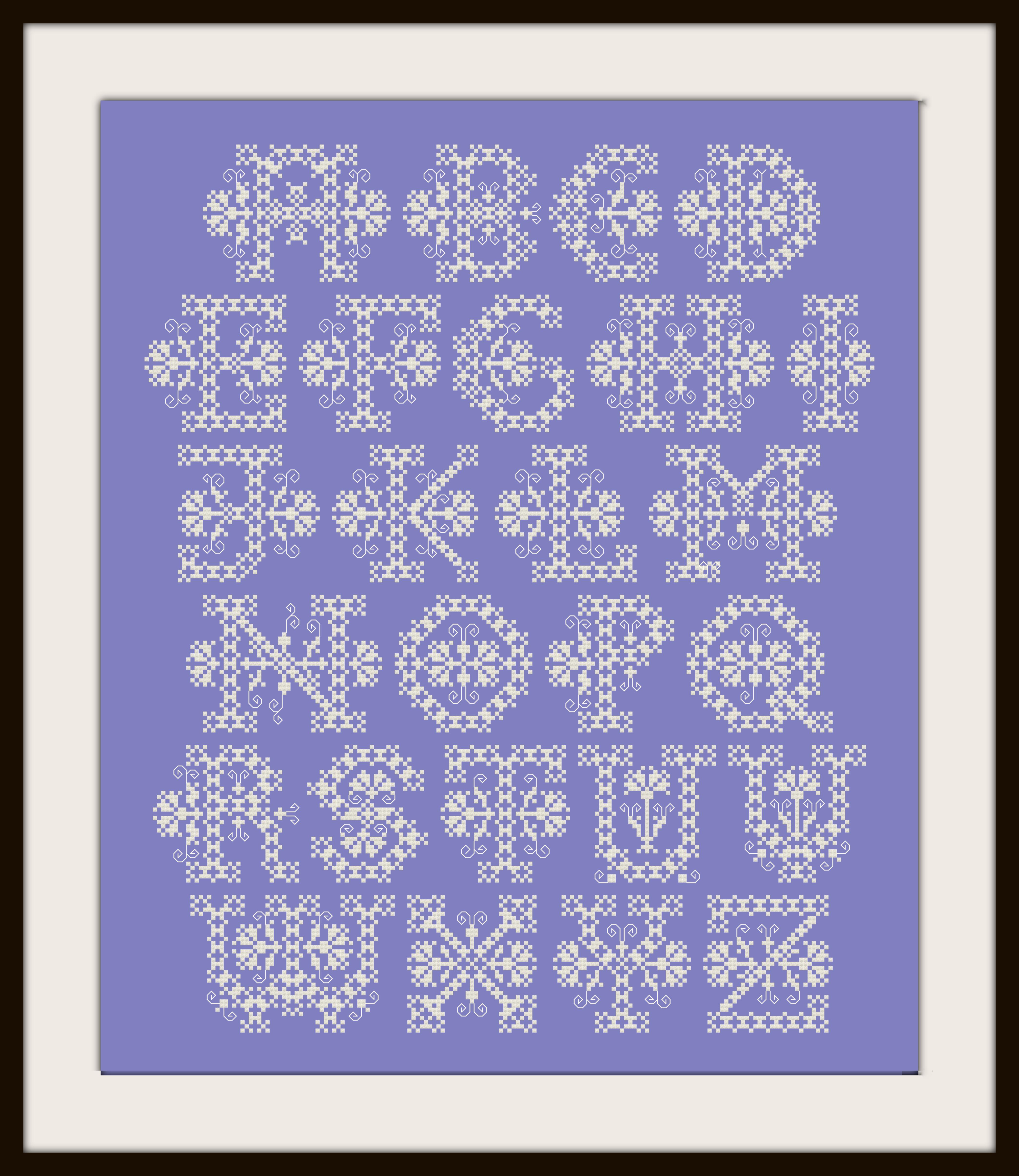 Lace Alphabet Preview