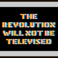 Free The Revolution Will Not Be Televised Cross Stitch Pattern